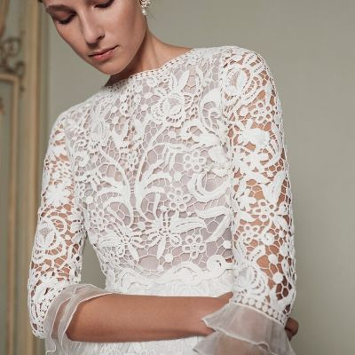 Collection mariage civil. Top en guipure Margaux Tardits